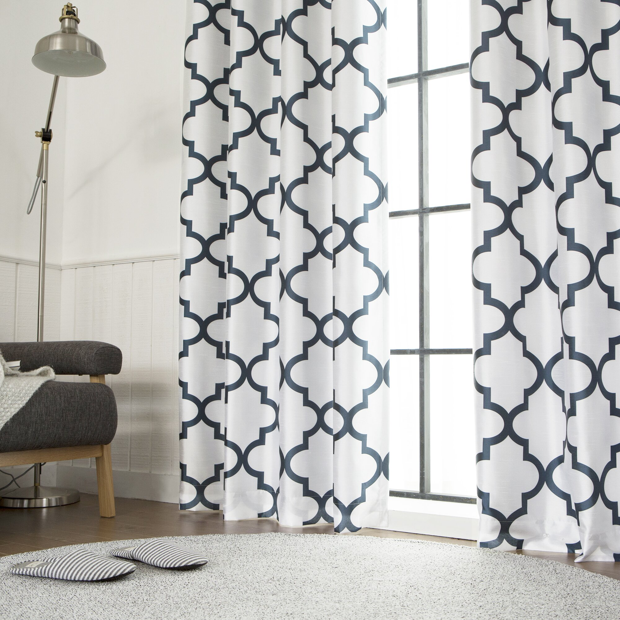 Moroccan tile pattern curtains - Best Home Fashion Inc Moroccan Tile Blackout Thermal Single Curtain Panel