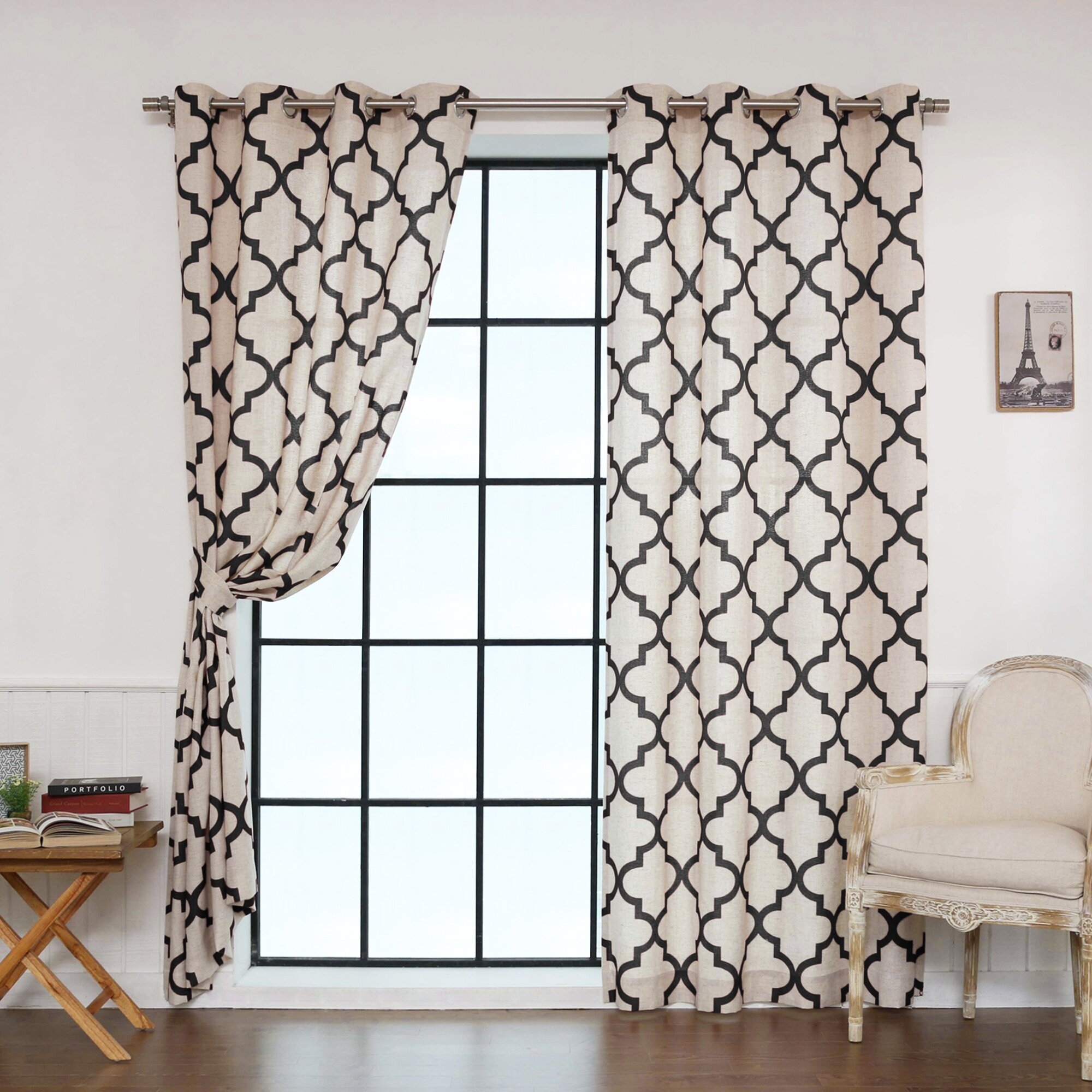 Moroccan tile pattern curtains - Best Home Fashion Inc Moroccan Tile Curtain Panels