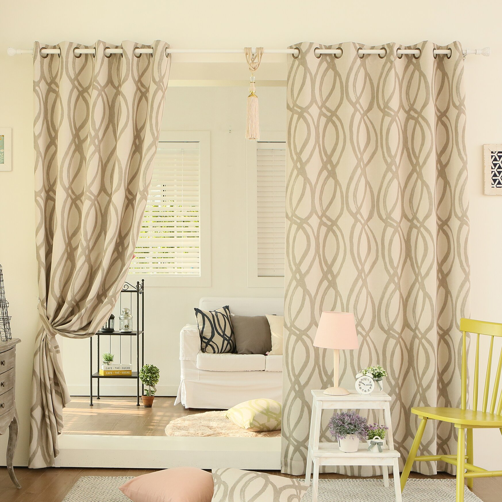 Of Curtains For Living Room Best Home Fashion Inc Wave Room Grommet Top Room Darkening