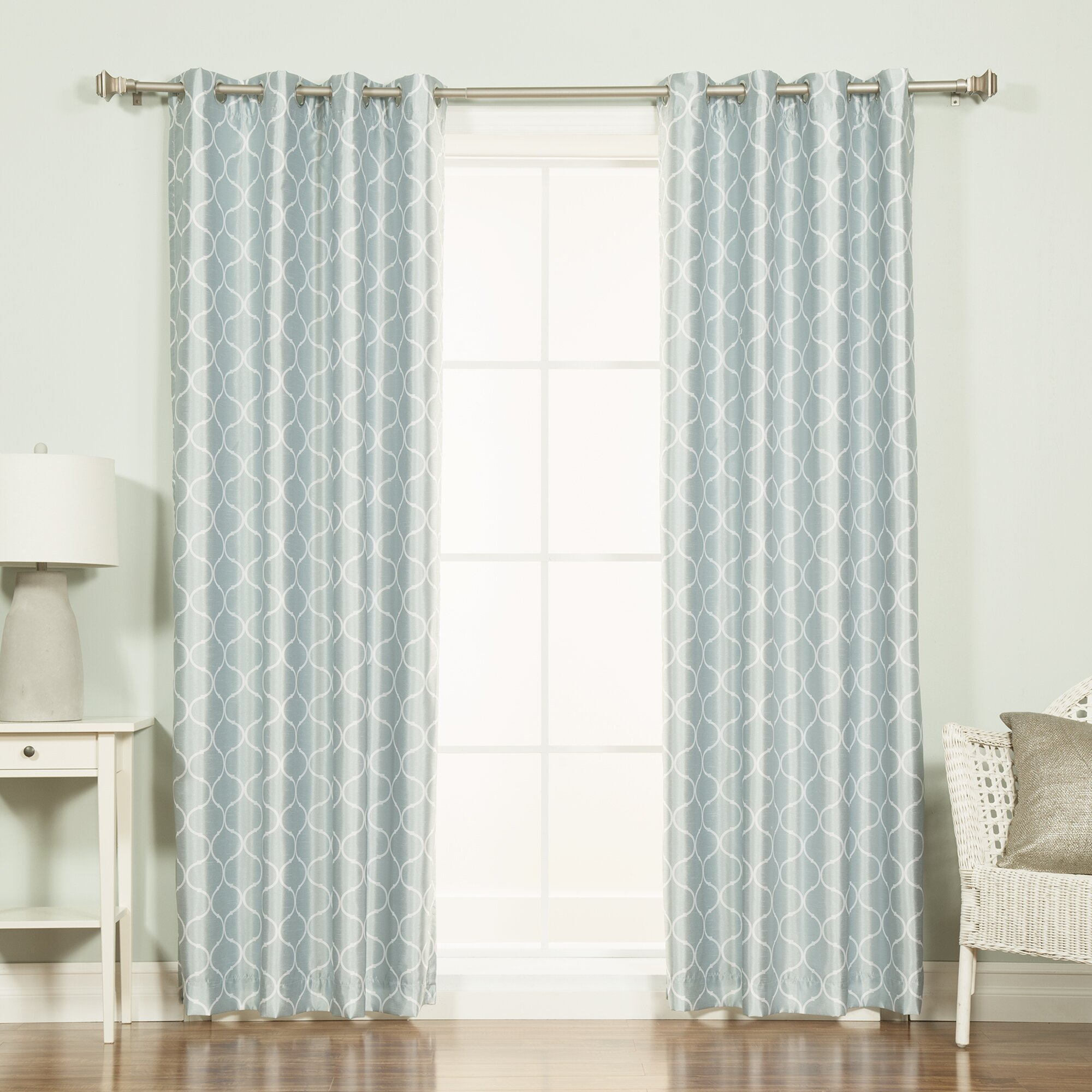 Print blackout thermal single curtain panel by best home fashion inc
