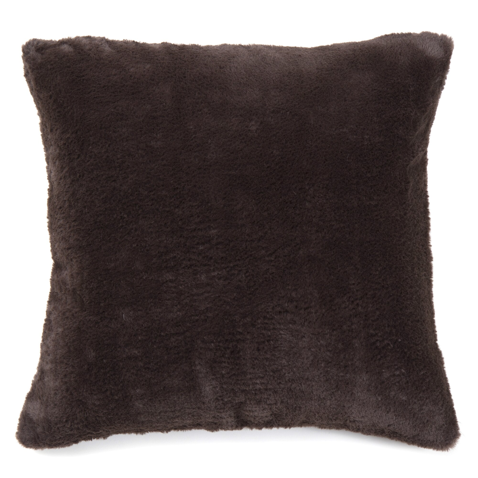 Best Home Fashion, Inc. Luxe Faux Fur Pom Pom Throw Blanket and Pillow Set & Reviews Wayfair