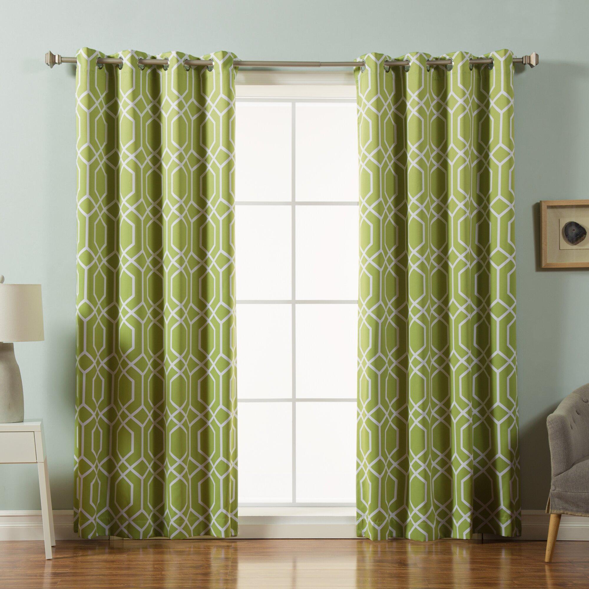 best home fashion inc trellis room darkening curtain. Black Bedroom Furniture Sets. Home Design Ideas