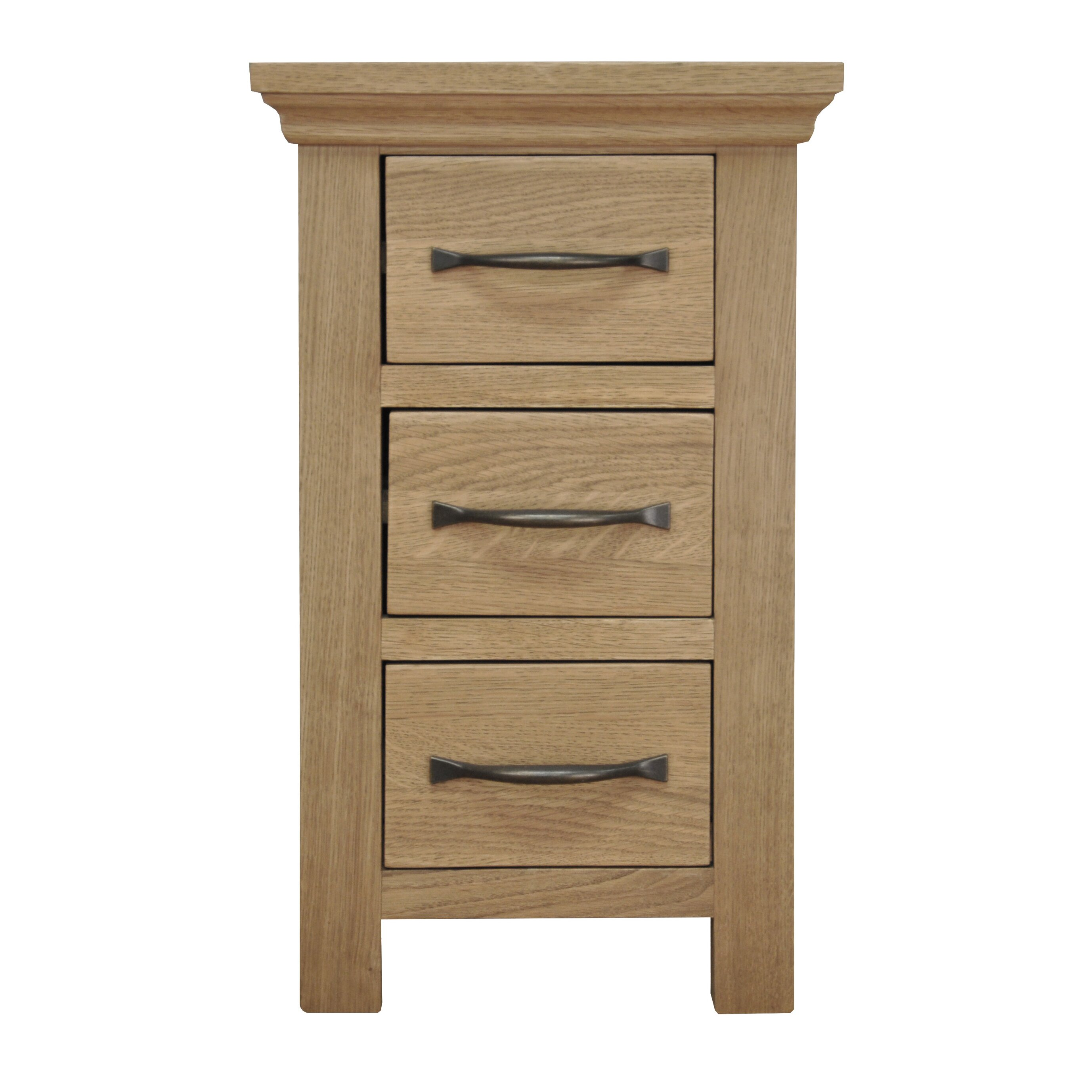 hazelwood home 3 drawer bedside table reviews wayfair. Black Bedroom Furniture Sets. Home Design Ideas