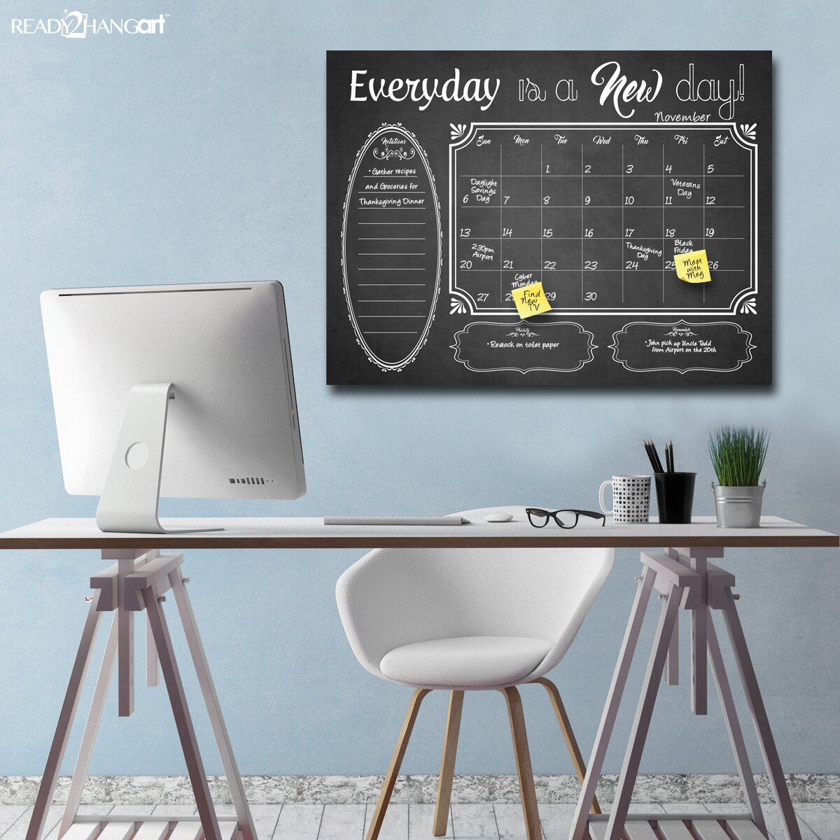 Ready2hangart Dry Erase Monthly Calendar Memo Board Reviews – Weekly Memo Calendar