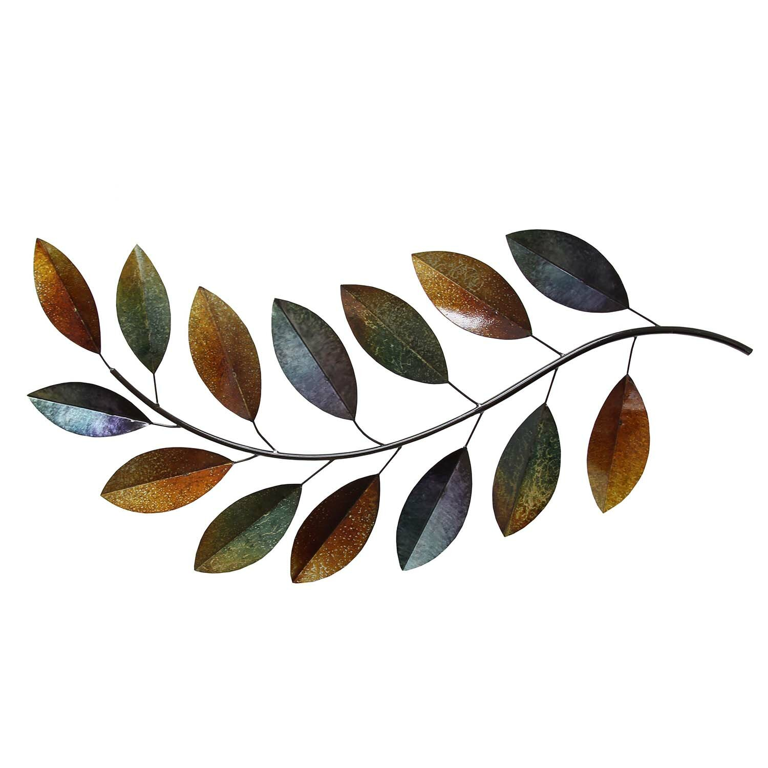 Stratton Home Decor Metal Leaves Wall Du0026eacute;cor