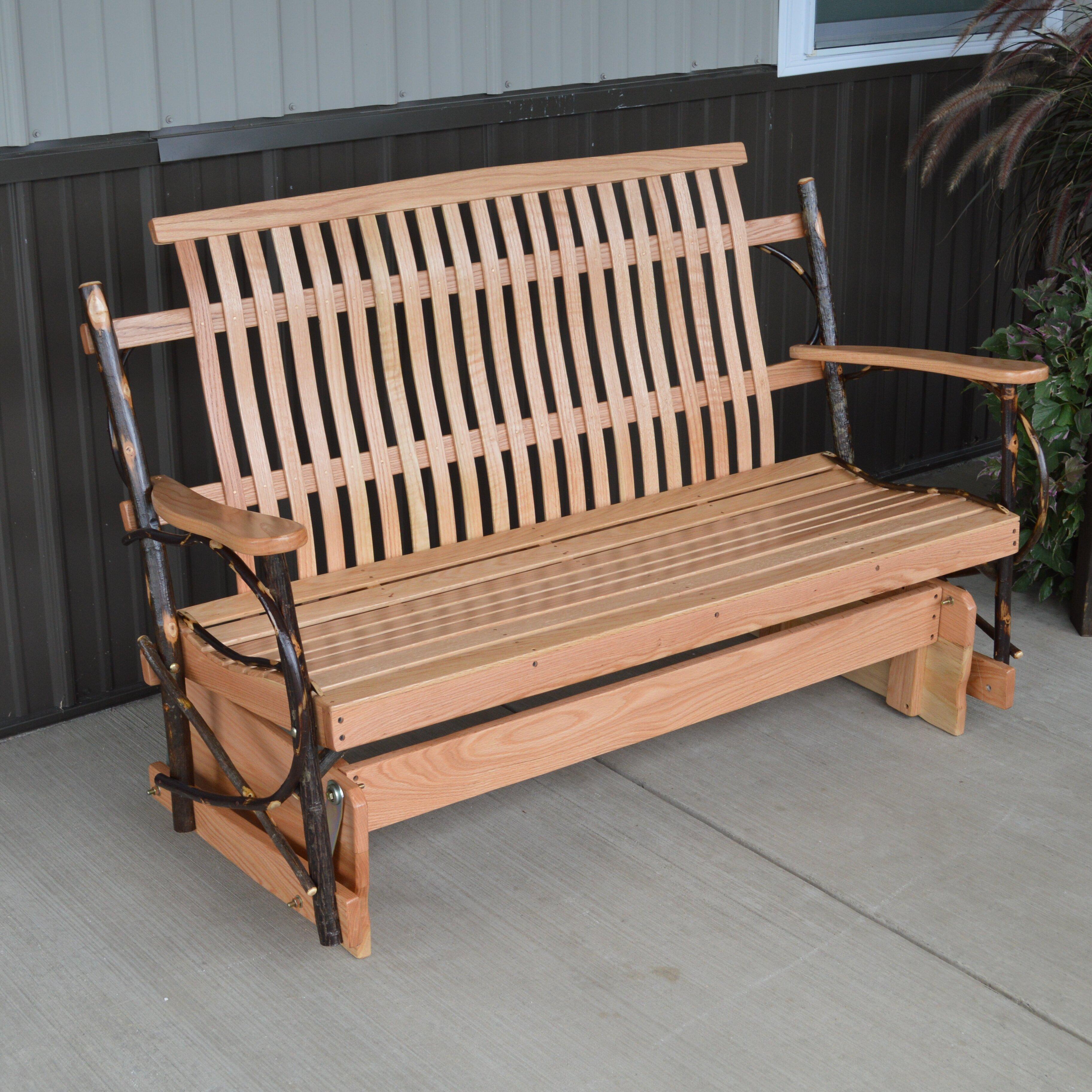 Furniture Hickory Porch Glider Bench  Wayfair