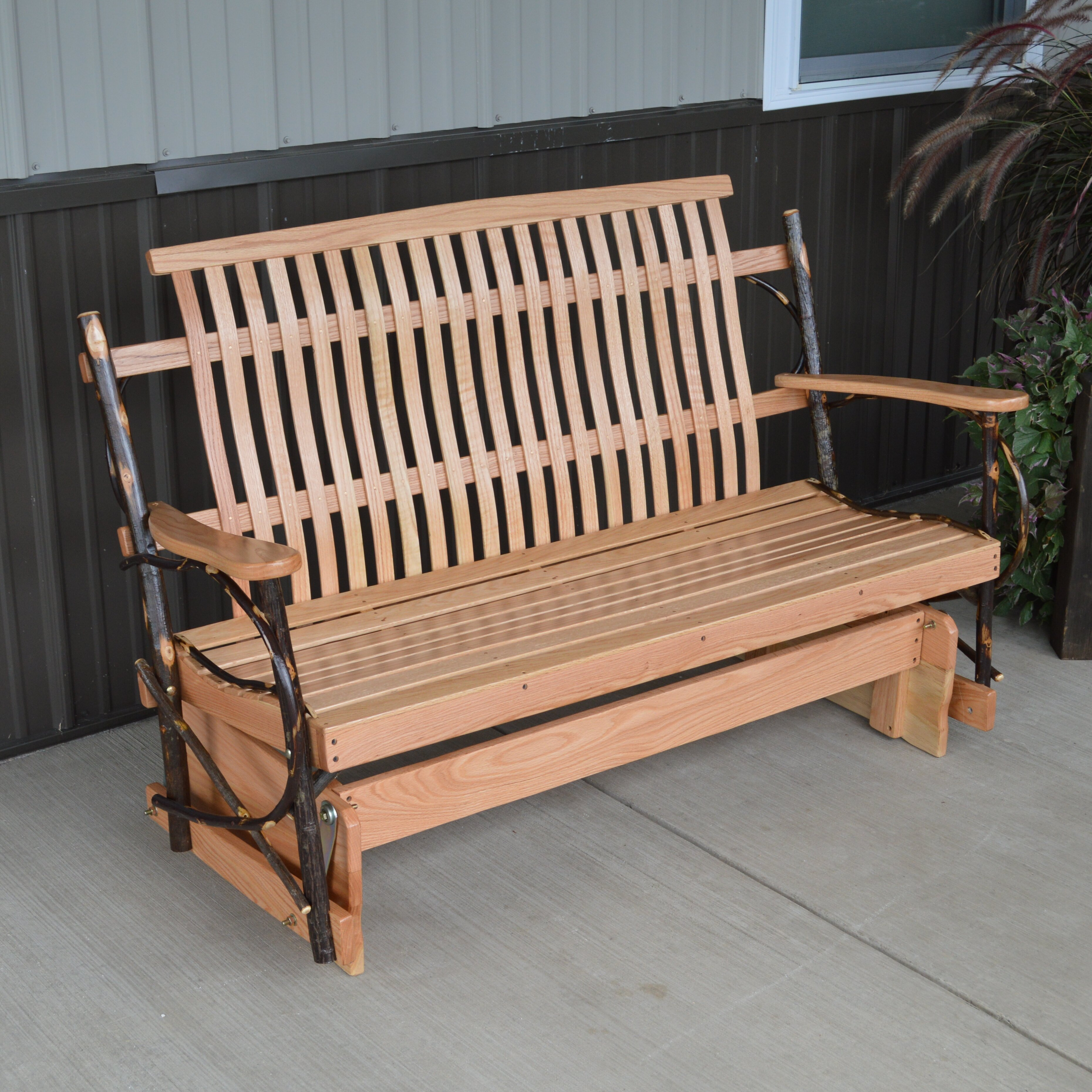 Furniture Hickory Porch Glider Bench Wayfair. Full resolution  file, nominally Width 3719 Height 3719 pixels, file with #915F3A.