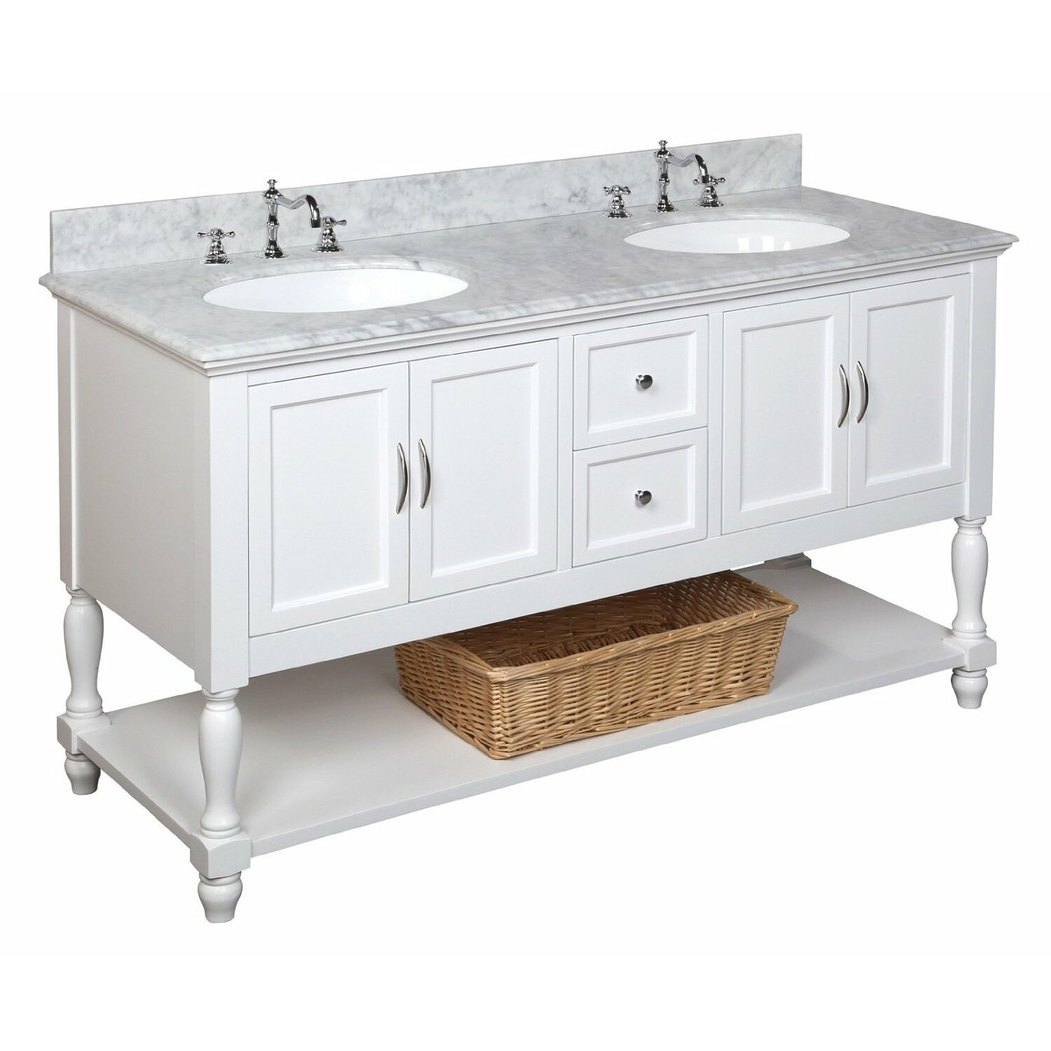 60 Bathroom Cabinet Kbc Beverly 60 Double Bathroom Vanity Set Reviews Wayfair