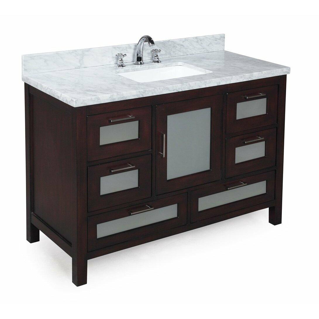 kitchen bath collection manhattan 48 single bathroom vanity set