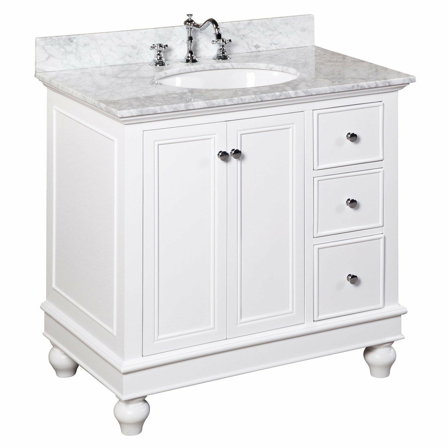 Wayfair bathroom cabinets - Kitchen Bath Collection Bella 36 Single Bathroom Vanity Set