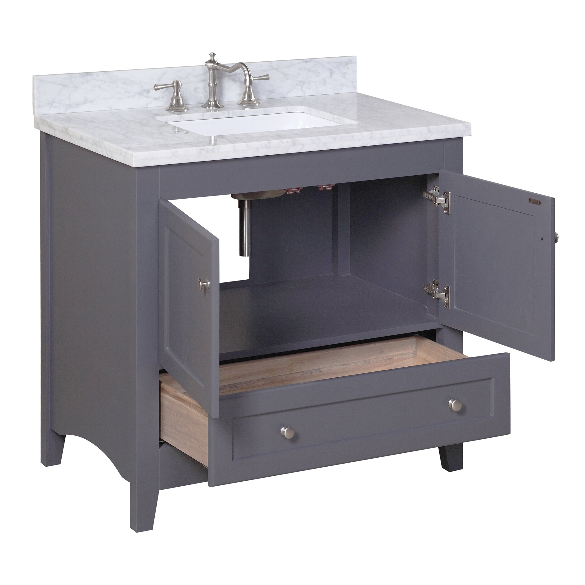 Kitchen Bathroom Kbc Abbey 36 Single Bathroom Vanity Set Reviews Wayfair