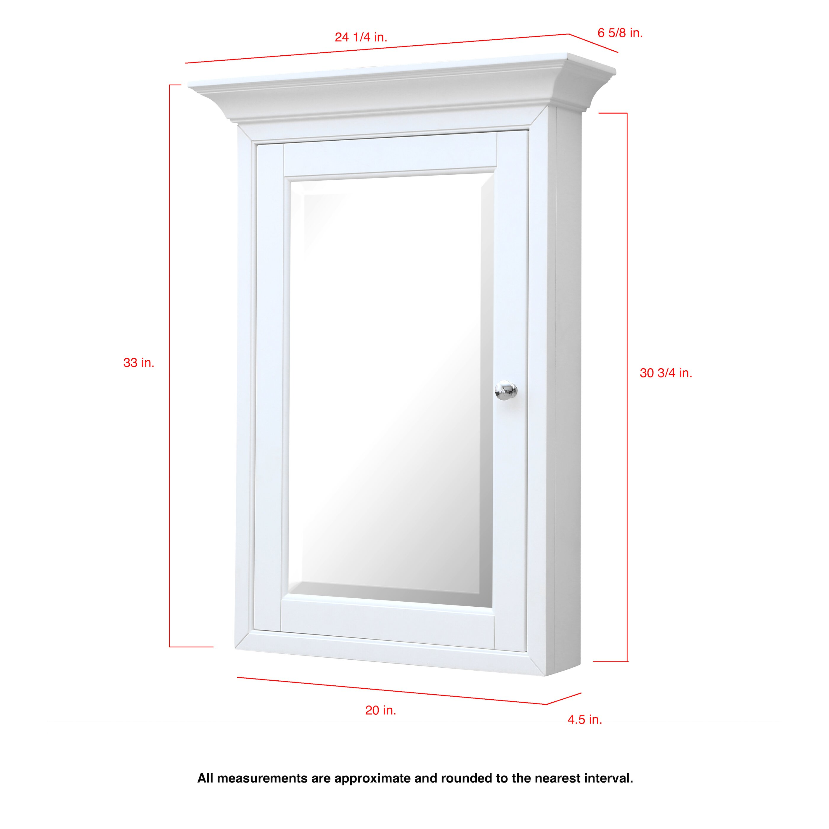 beveled mirror medicine cabinet kitchen bath collection 24 25 quot x 33 quot surface mount beveled medicine cabinet