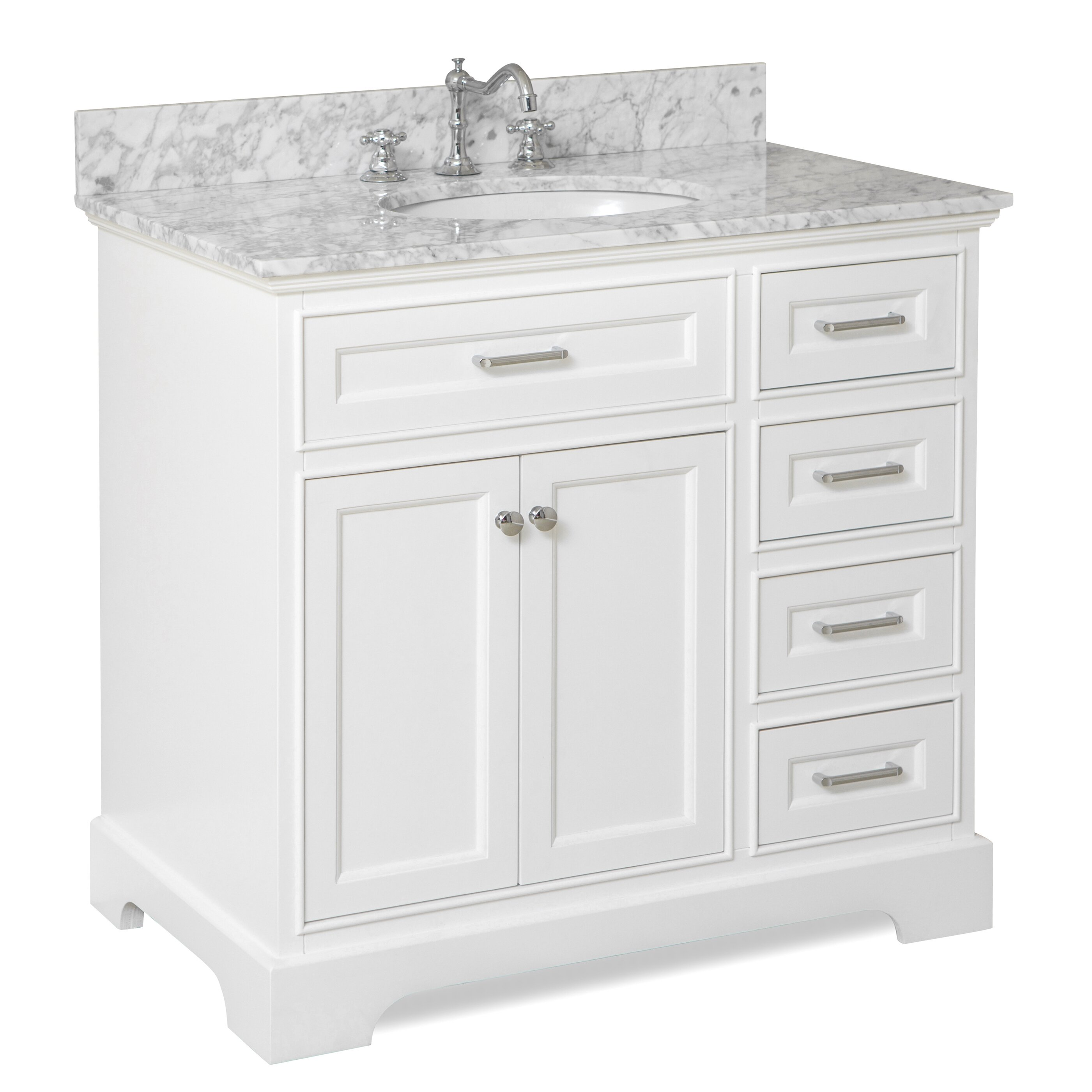 "Kitchen Collection: KBC Aria 36"" Single Vanity Set & Reviews"