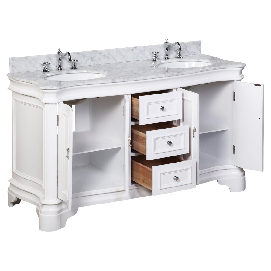 Double bathroom vanity - Kitchen Bath Collection Katherine 60 Quot Double Bathroom Vanity Set