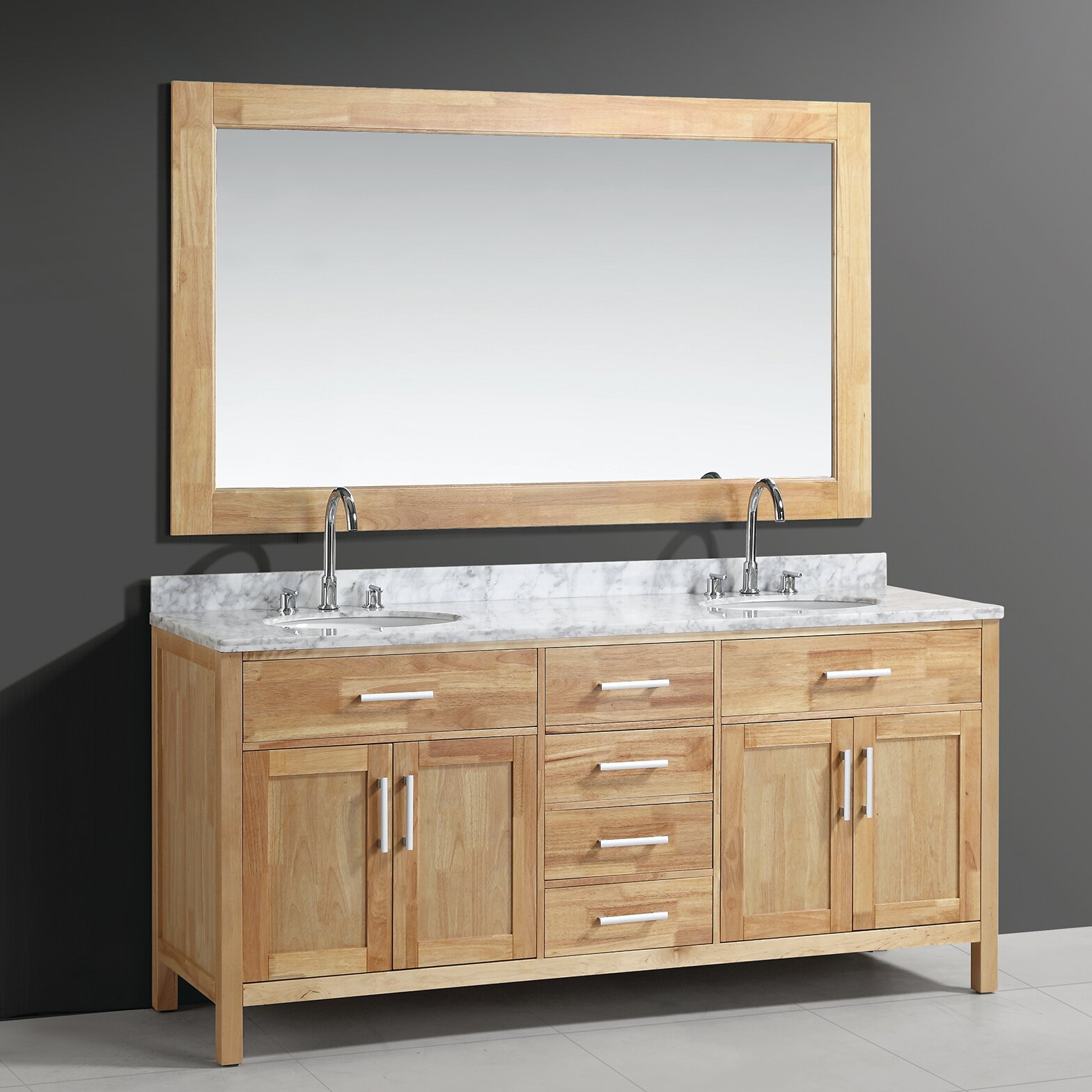 Double bathroom vanity - Red Barrel Studio Reg Halcomb 72 Quot Double Bathroom Vanity