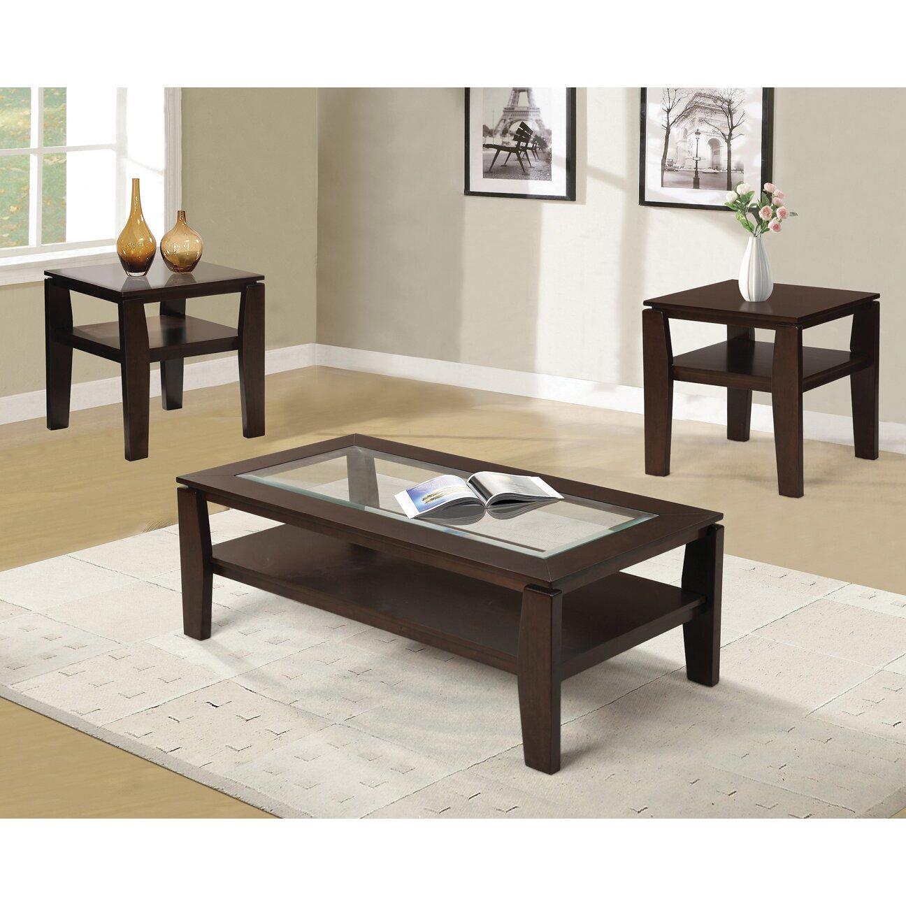 Coffee Table Set Of 3 Red Barrel Studio Golder 3 Piece Coffee Table Set Reviews Wayfair