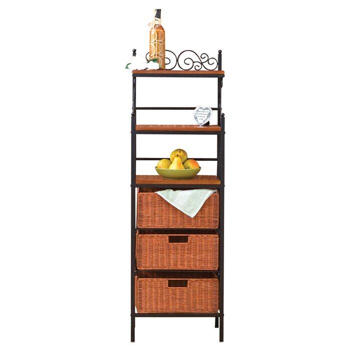 red barrel studio front street storage 3 drawer baker 39 s rack reviews wayfair. Black Bedroom Furniture Sets. Home Design Ideas