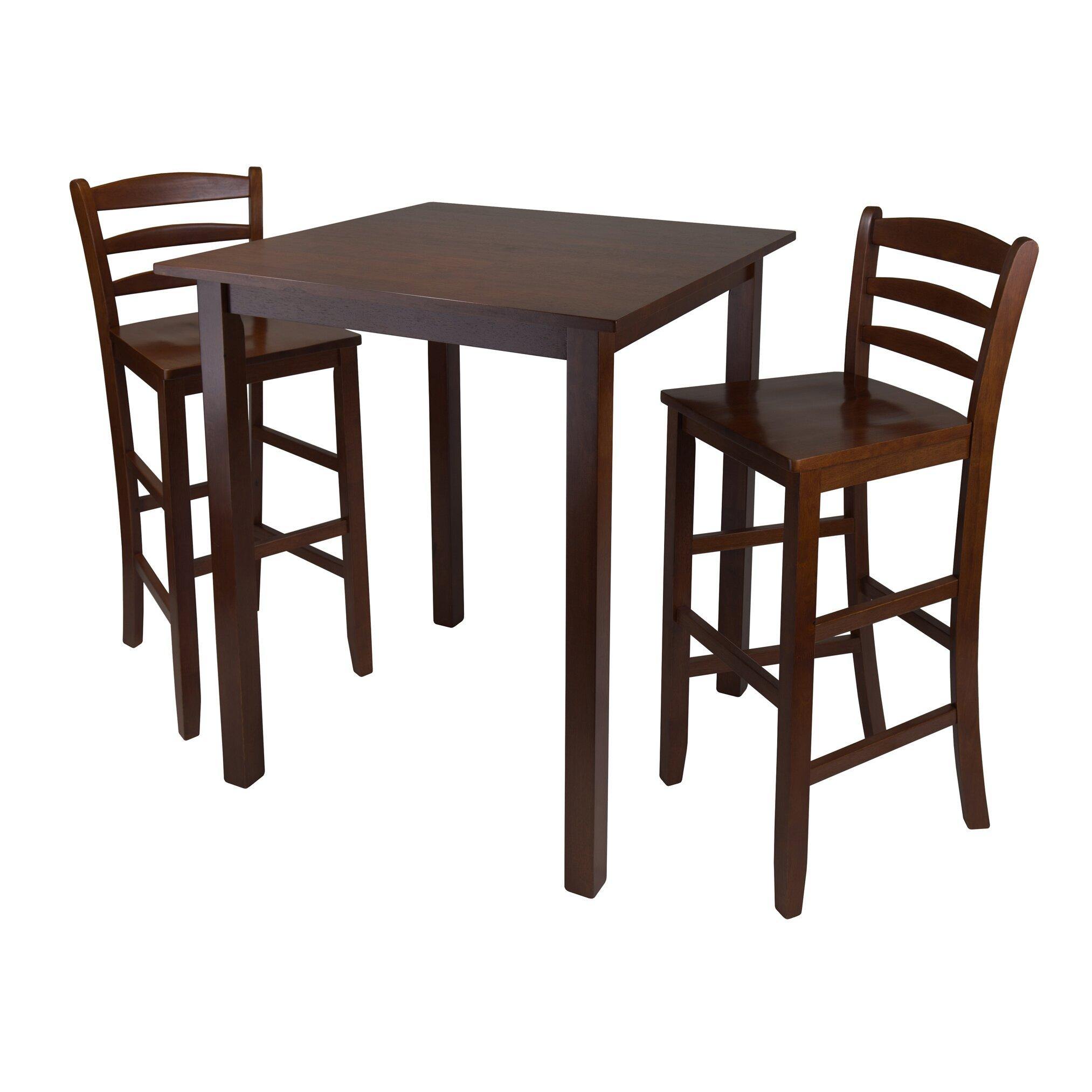 Kitchen Pub Table And Chairs Red Barrel Studio Auburn Road 3 Piece Pub Table Set Reviews