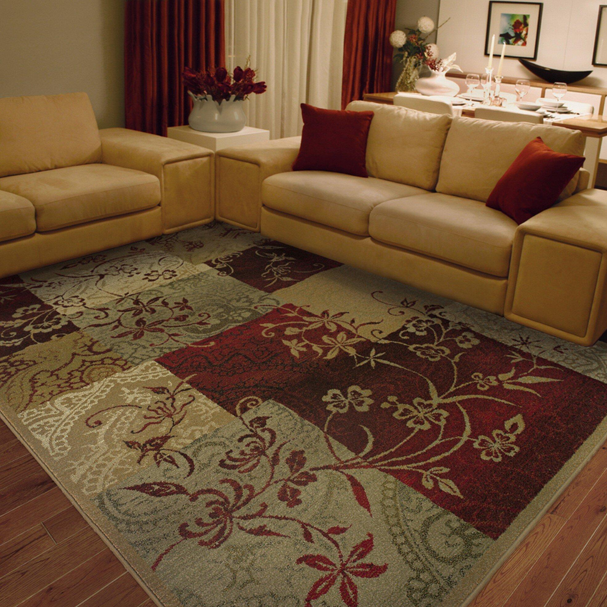 Red Living Room Rug Red Barrel Studio Sabanc Beige Red Area Rug Reviews Wayfair