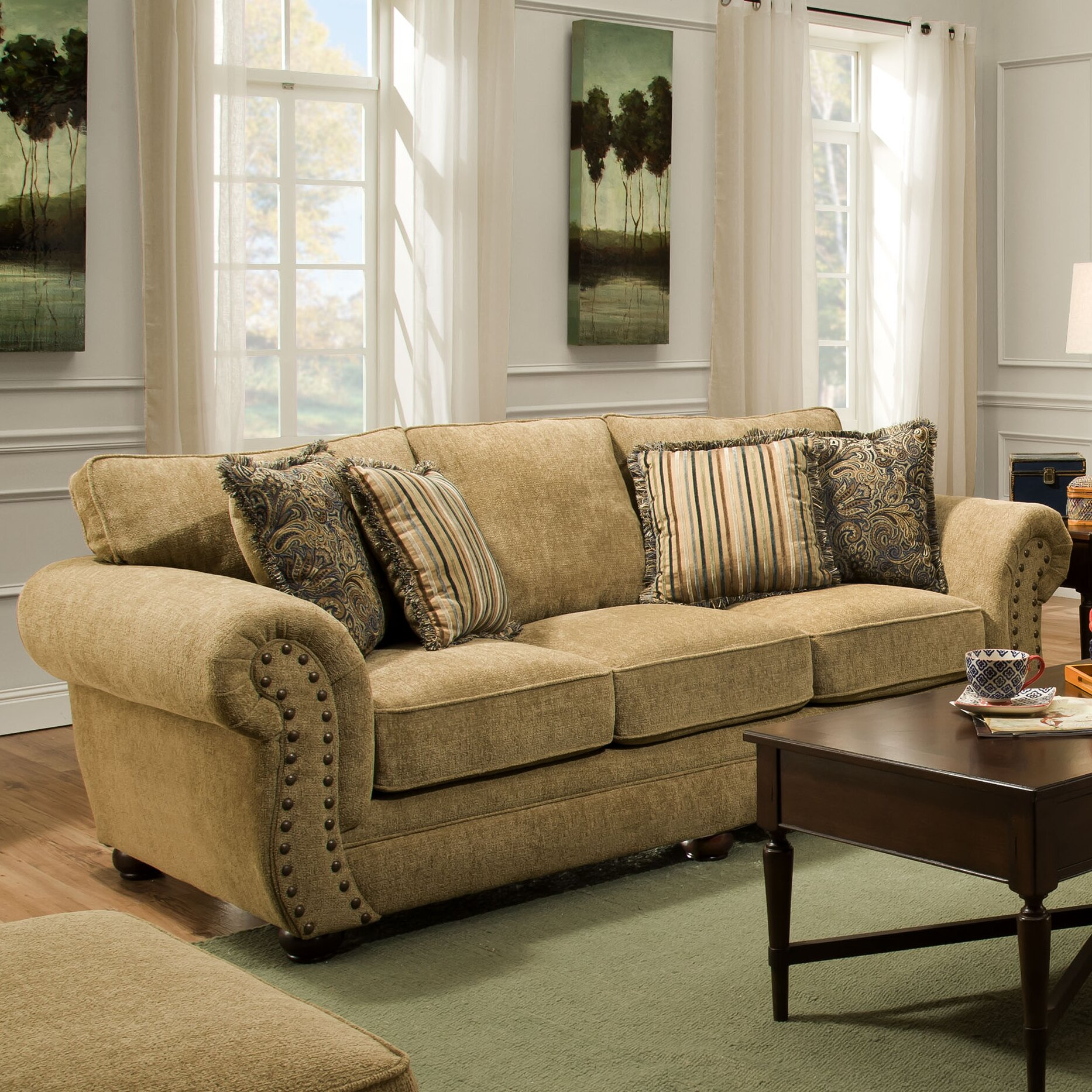 chenille sofas youll love wayfair lakewood tufted sofa hmmi