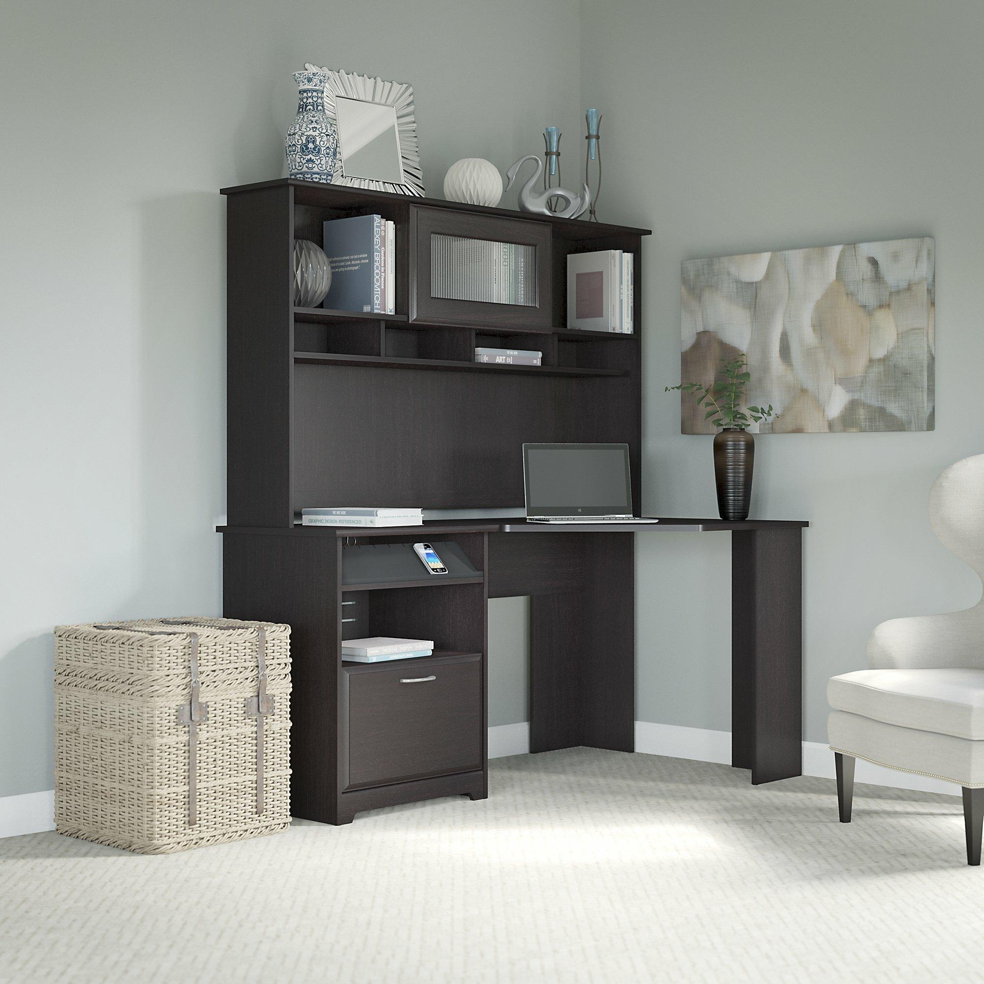 red barrel studio hillsdale corner computer desk with hutch reviews. Black Bedroom Furniture Sets. Home Design Ideas