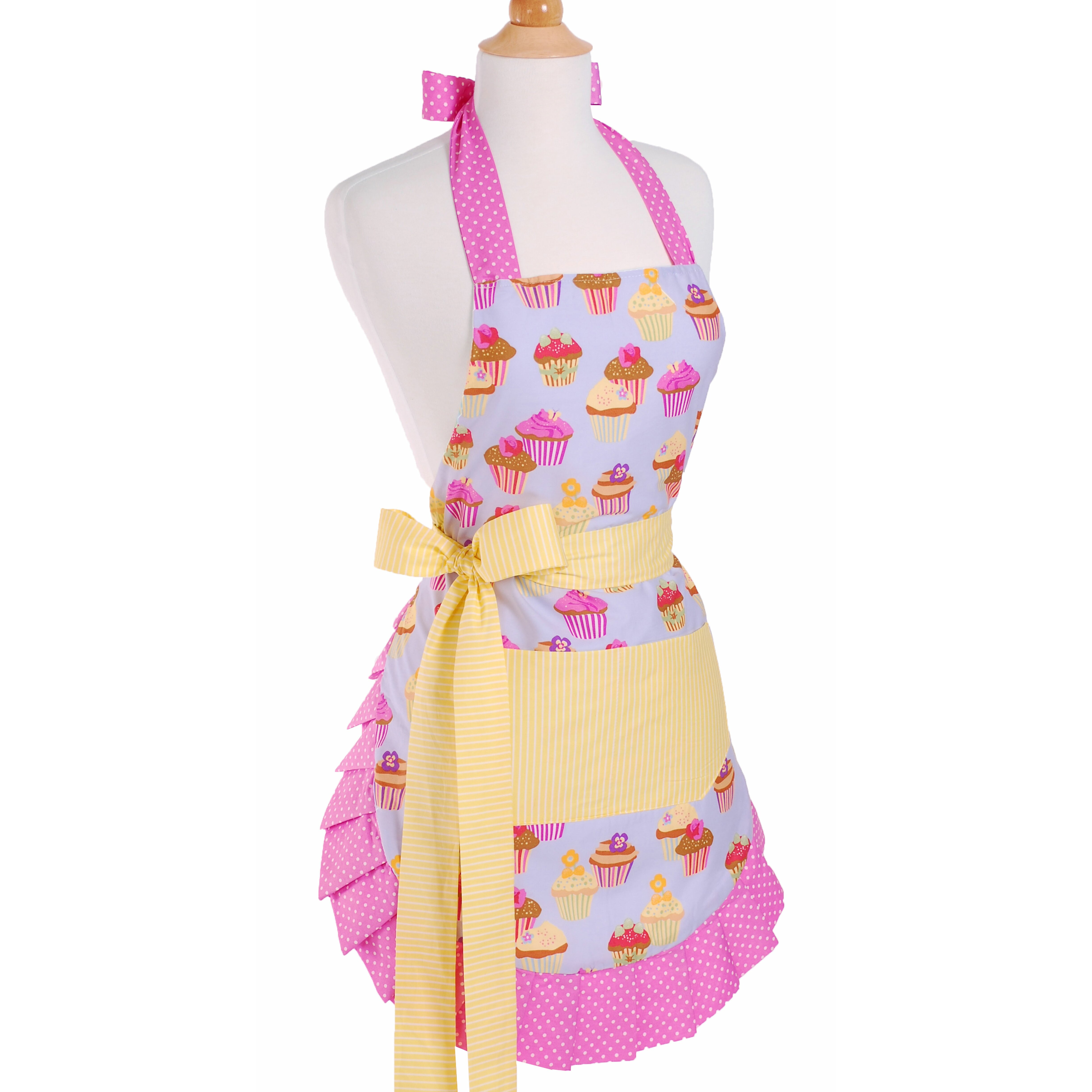 White apron chef fresno - Red Barrel Studio Reg Women S Apron In Frosted Cupcake