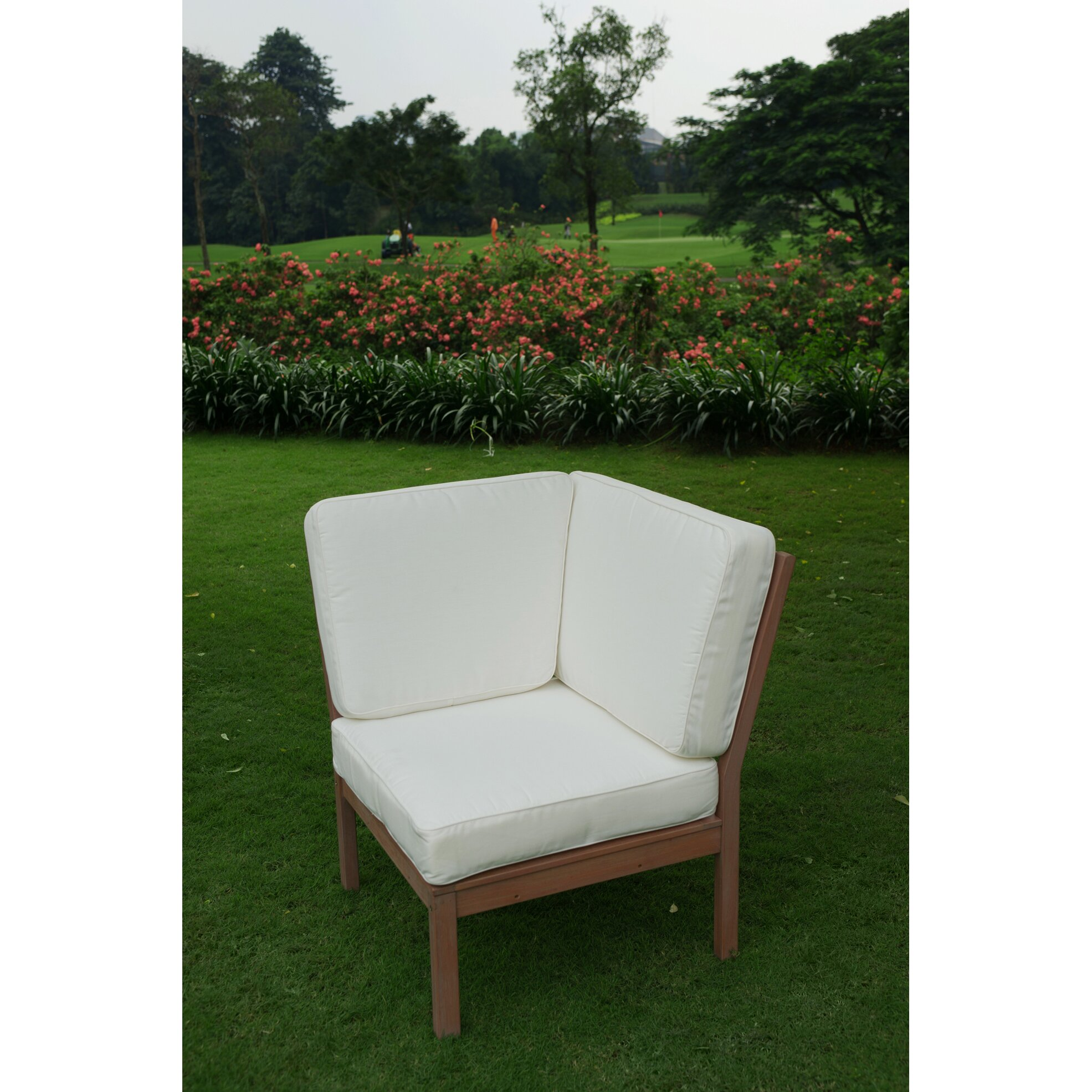 Cambridge Casual Willow Corner Lounge Chair with Cushion
