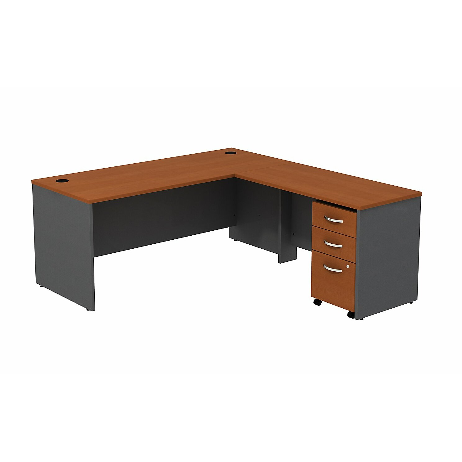 Bush Business Furniture Series C L-Shape Executive Desk & Reviews | Wayfair
