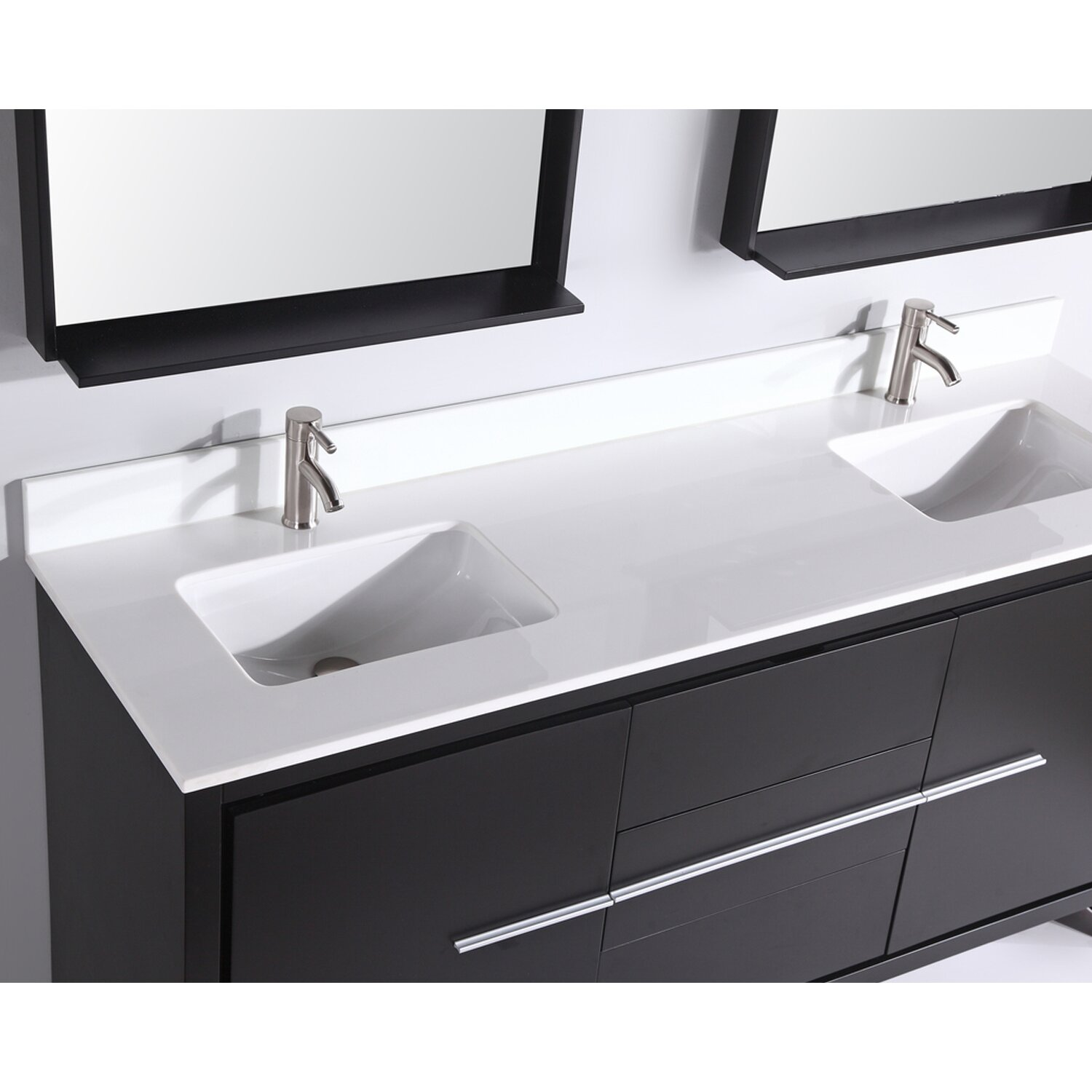 Mtdvanities cypress 72 double modern bathroom vanity set - Modern vanity mirrors for bathroom ...