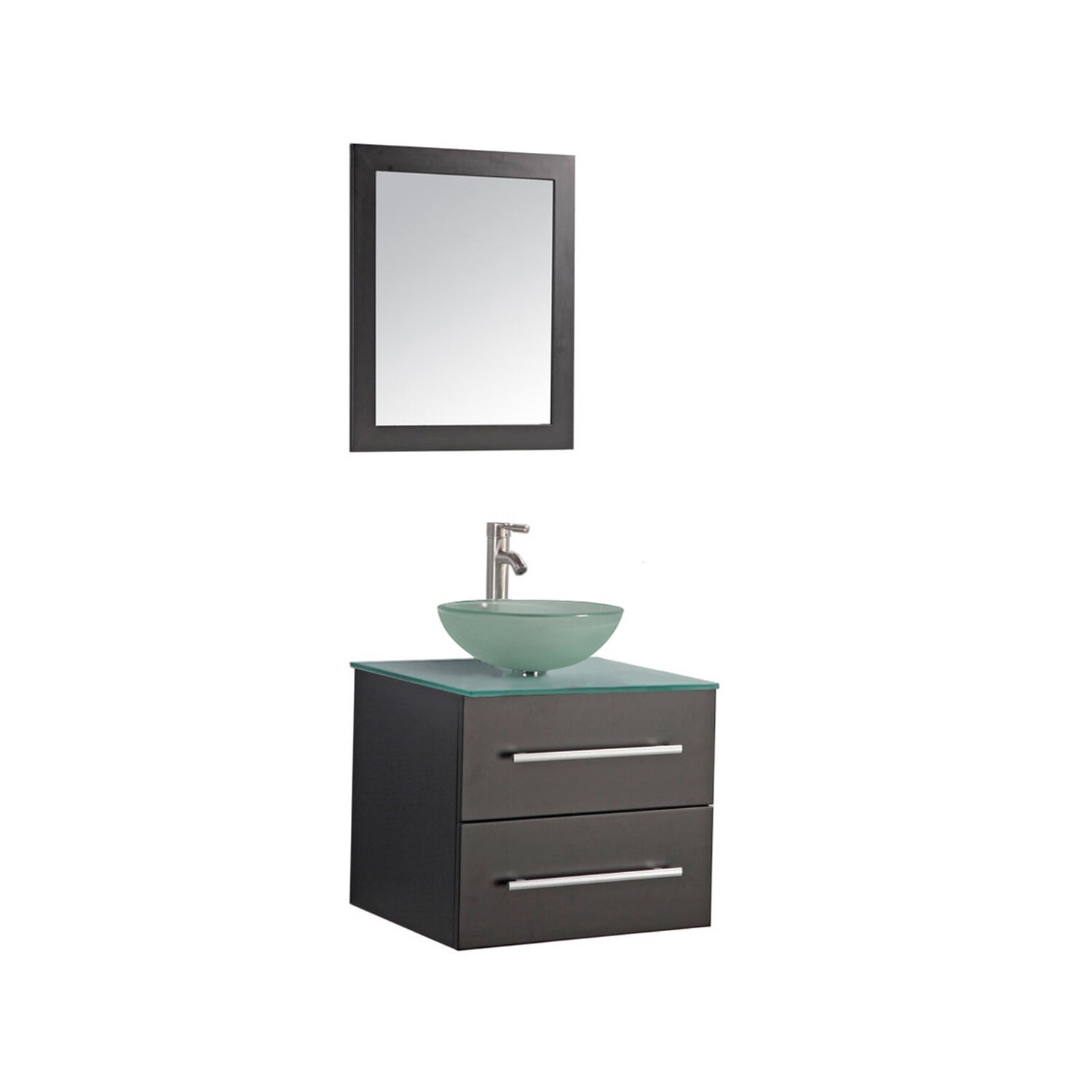 Bathroom single vanity - Mtd Vanities Cuba 24 Quot Single Wall Mounted Bathroom Vanity Set With Mirror