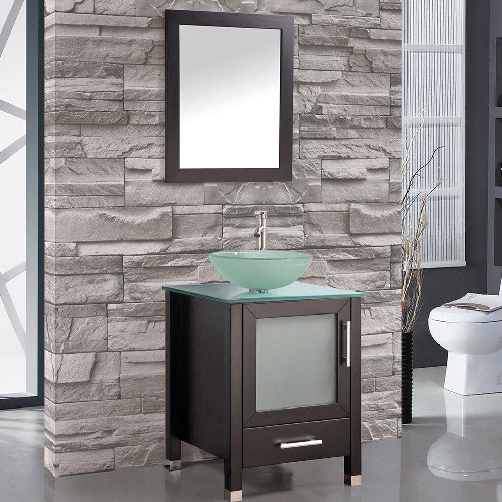Gretta 24 Single Bathroom Vanity Mirror Set – Bathroom Vanity and Mirror Set