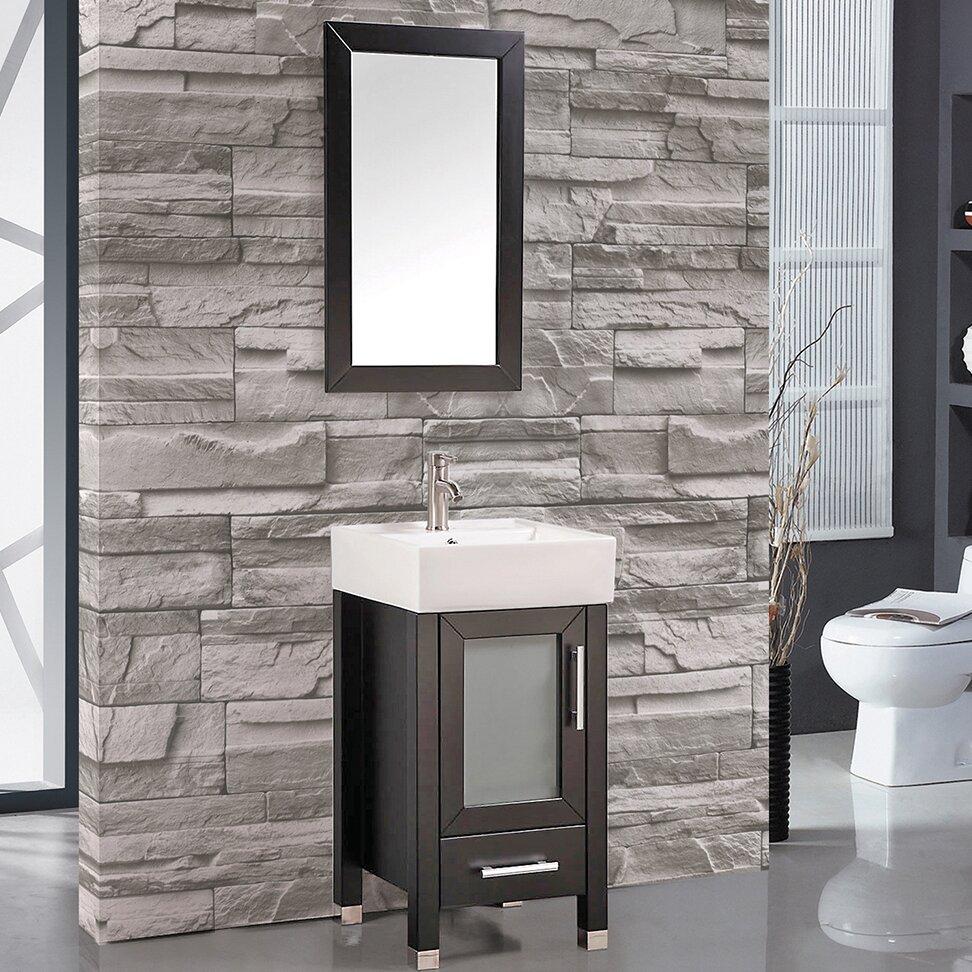 Mtd Vanities Malta 18 Single Sink Bathroom Vanity Set With Mirror. bathroom mirrors malta   Bathroom