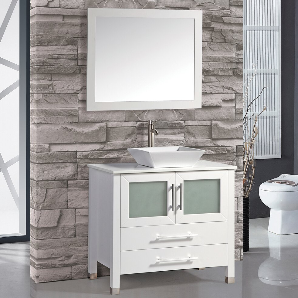 Luxury MTDVanities Malta 71quot Double Bathroom Vanity Set With Mirror Amp Revie