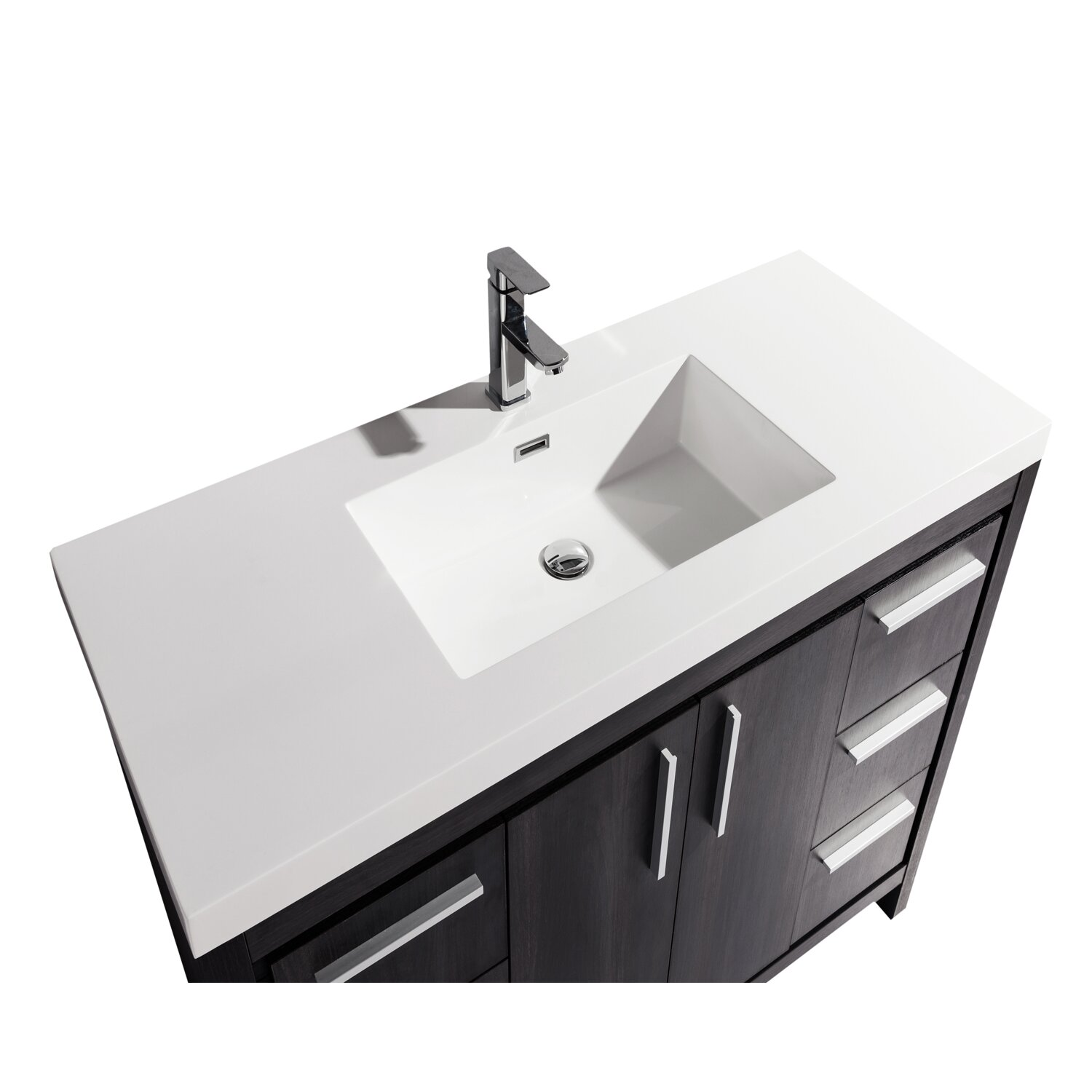 Modern Single Sink Vanity : MTD Vanities Miami 48