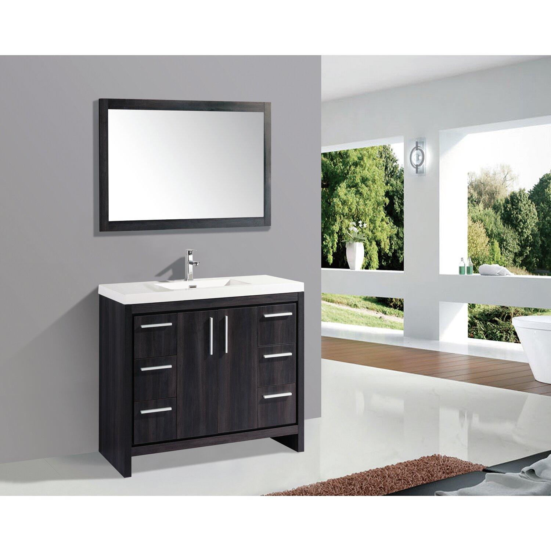 Grace 48 Single Bathroom Vanity Mirror Set – Bathroom Vanity and Mirror Set