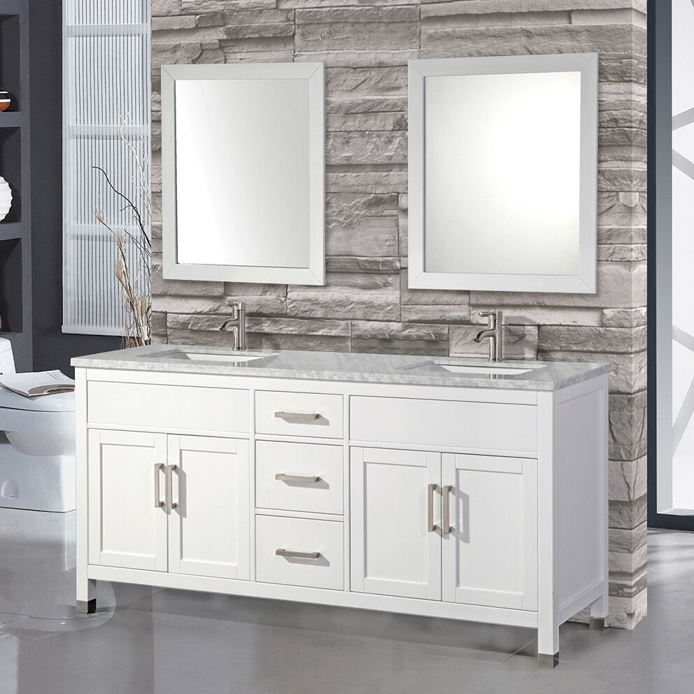 Lovely 48 White Bathroom Vanity Cabinet Tiny Bathroom Water Closet Design Solid Tiled Baths Showers Silkroad Exclusive Pomona 72 Inch Double Sink Bathroom Vanity Young Rebath Average Costs GrayBathroom Wall Fixtures MTDVanities Ricca 72\u0026quot; Double Sink Bathroom Vanity Set With Single ..