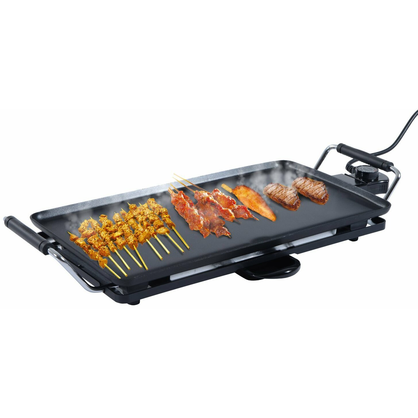 Outsunny plate bbq kitchen hot cooking table top barbecue grill wayfair uk - Table top barbecue grill ...