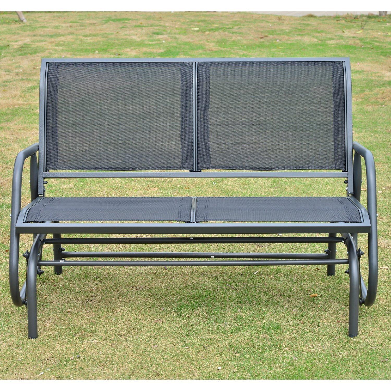 Outsunny-Gartenbank-Swing-aus-Aluminium Beste Gartenbank Metall Nostalgie Design-ideen