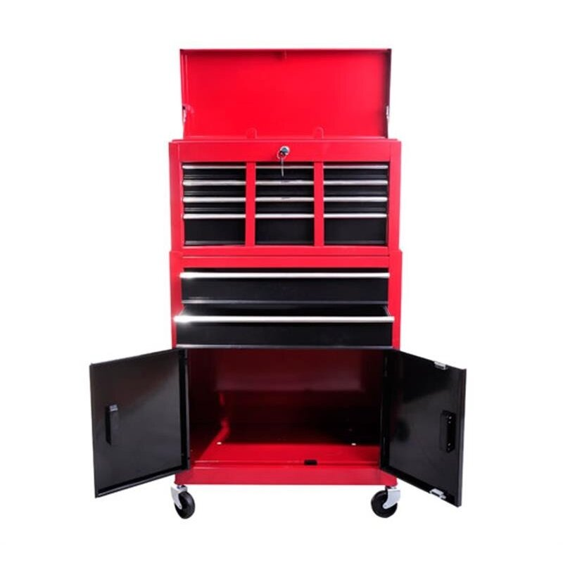 Portable Garage Storage : Homcom portable roll cab cabinet garage storage toolbox