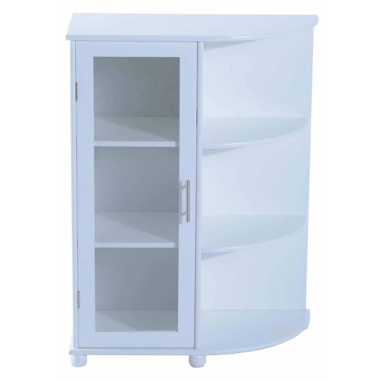 Homcom 30 X 60cm Corner Freestanding Cabinet Wayfair Uk
