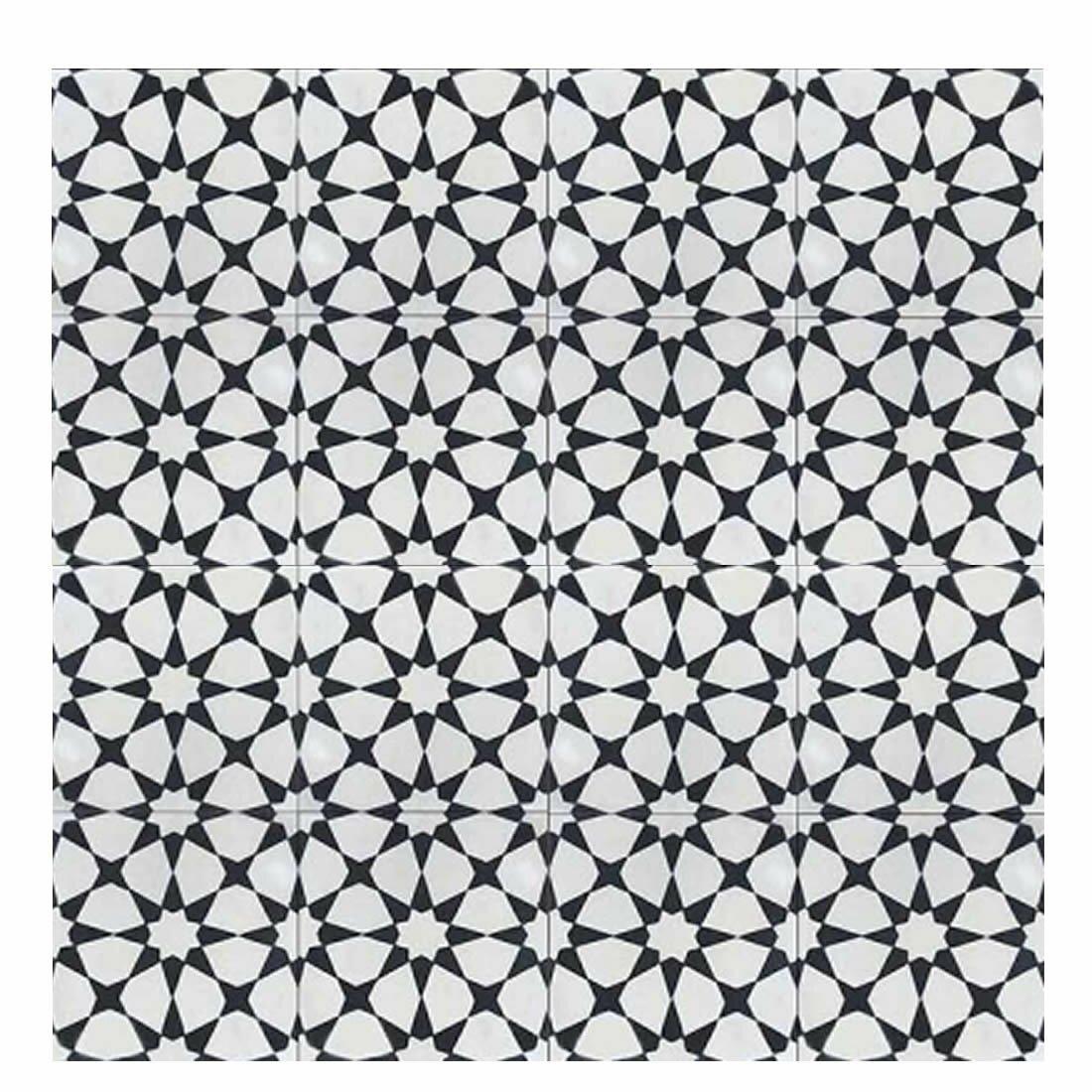 Springtime Wreaths Moroccan Mosaic Tile House Medina 8 Quot X 8 Quot Cement Tile In
