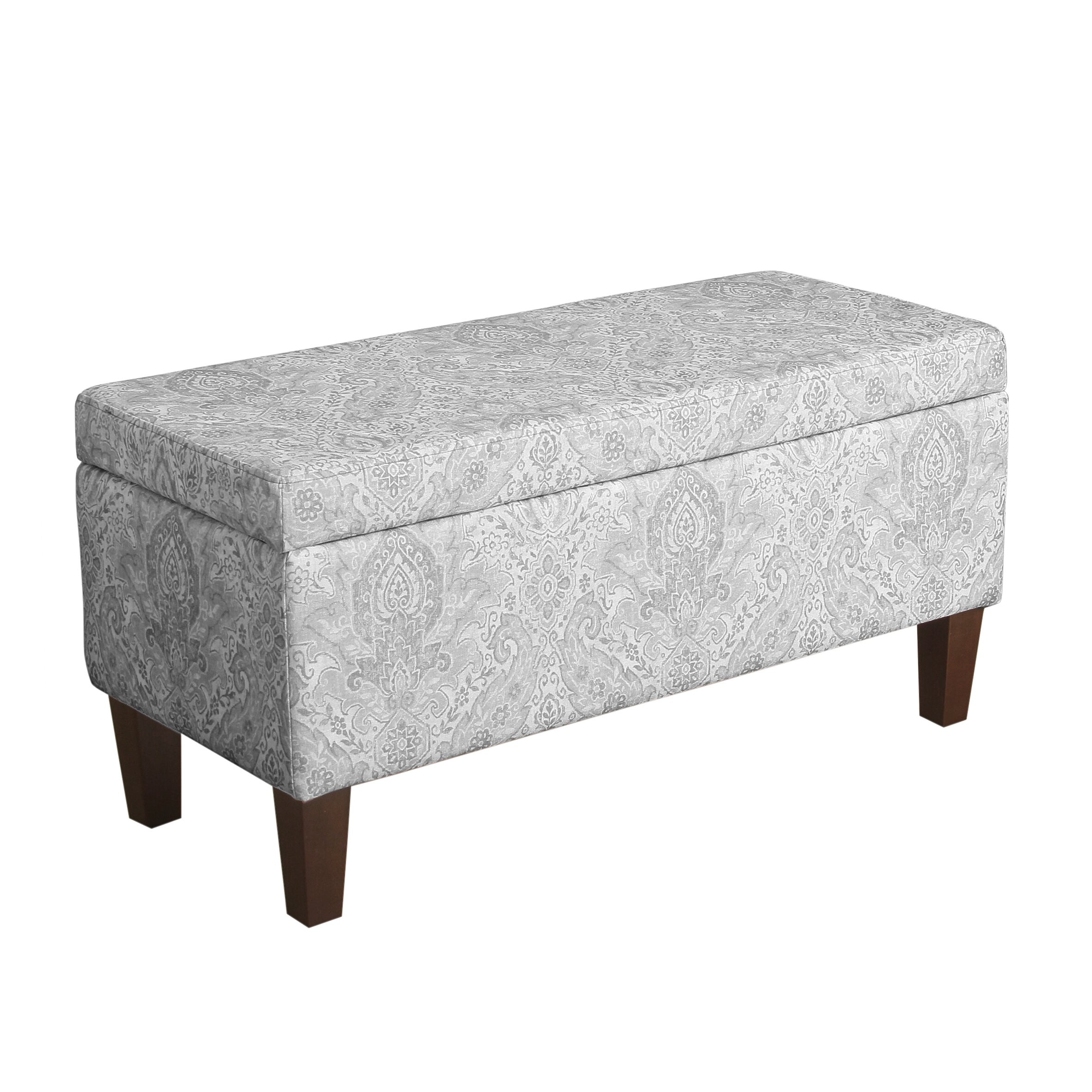 Bedroom bench dimensions - Bailey Upholstered Storage Bench