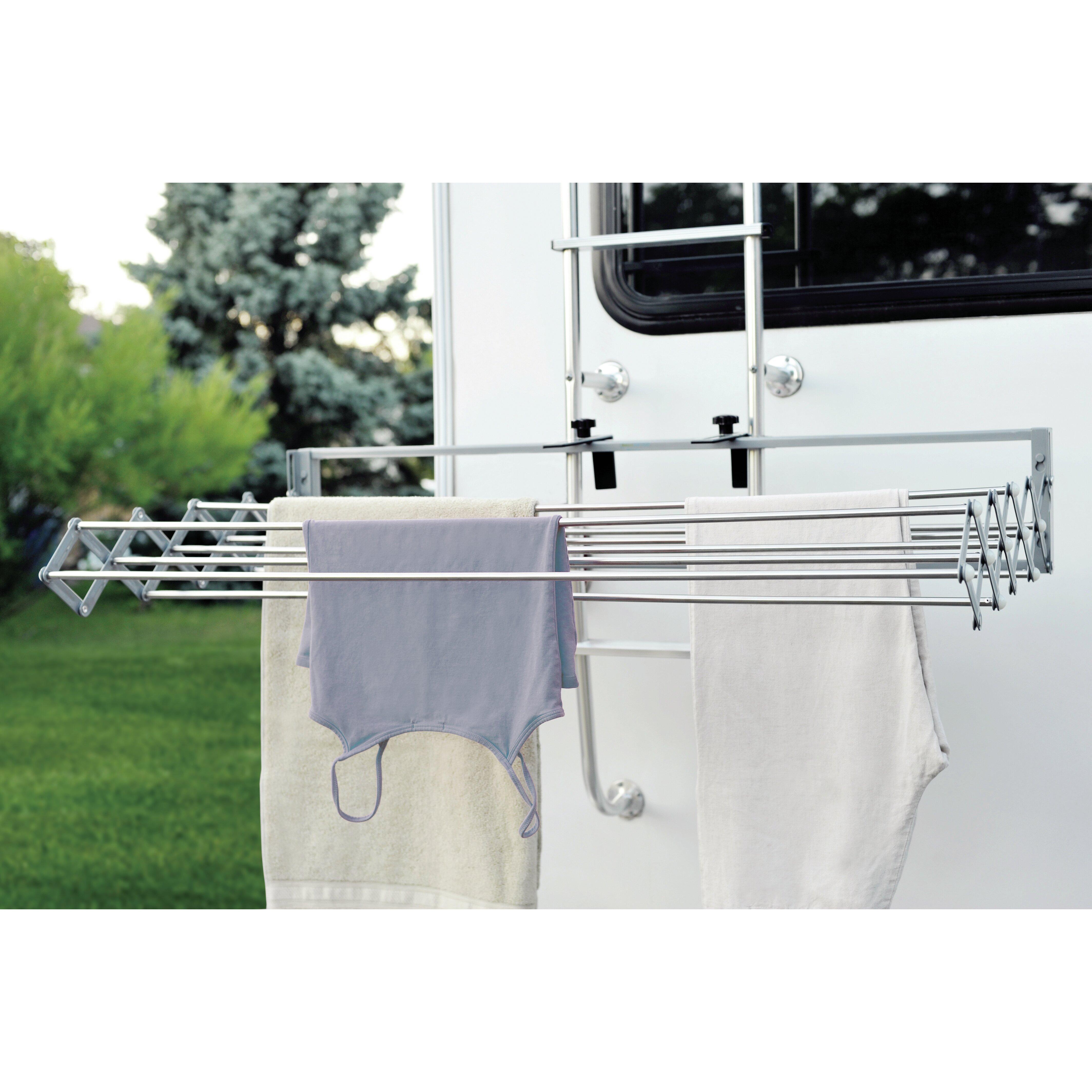 Xcentrik smart dryer telescopic clothes drying rack reviews wayfair - Seche linge extensible mural ...