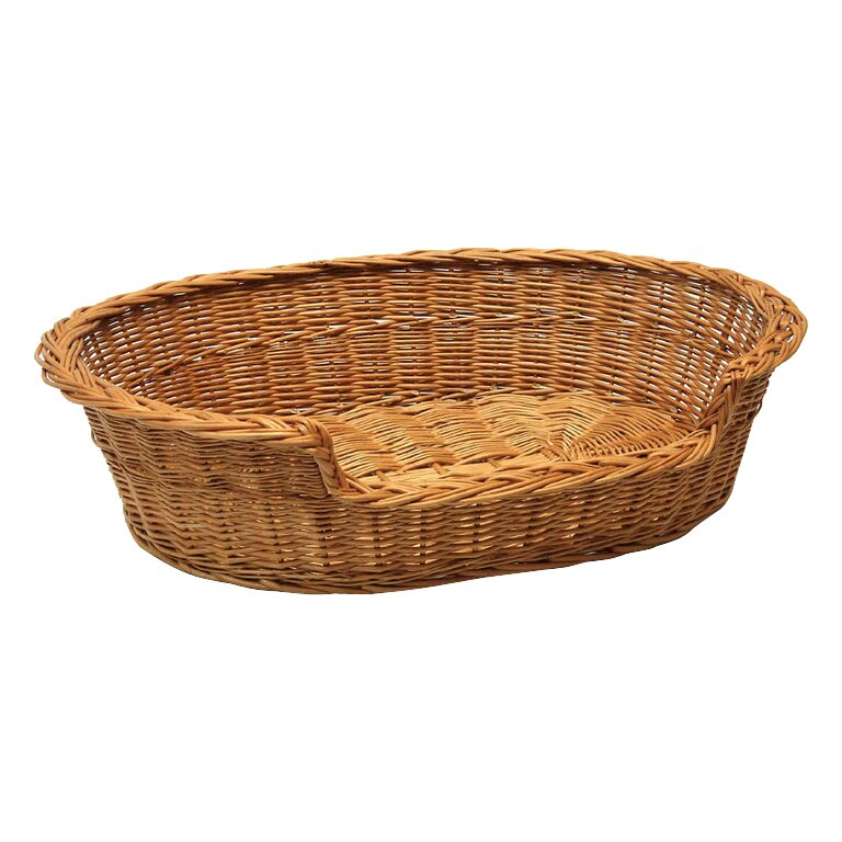 Wicker Dog Basket Bed