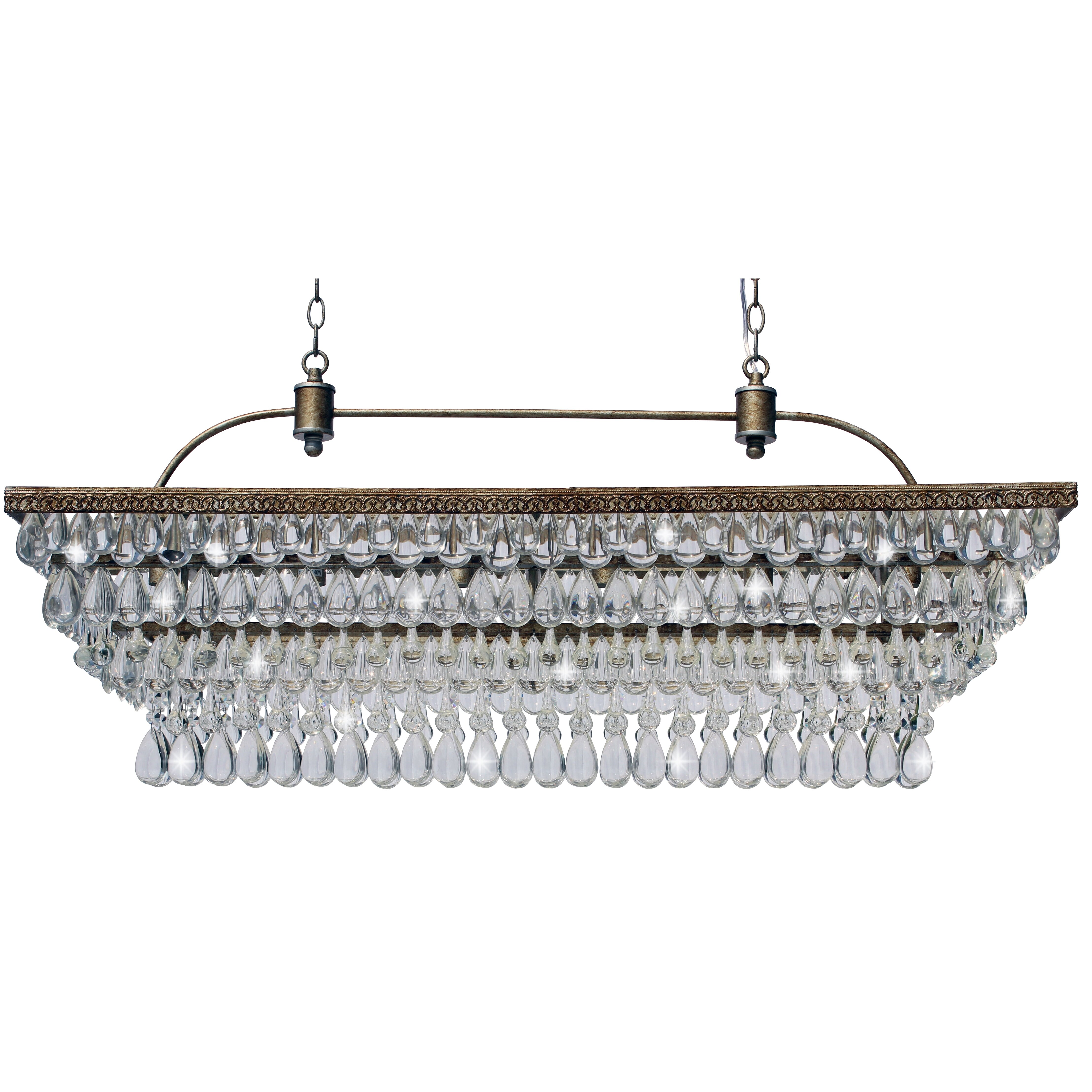 Pottery barn celeste chandelier - Lightupmyhome The Weston 6 Light Crystal Chandelier