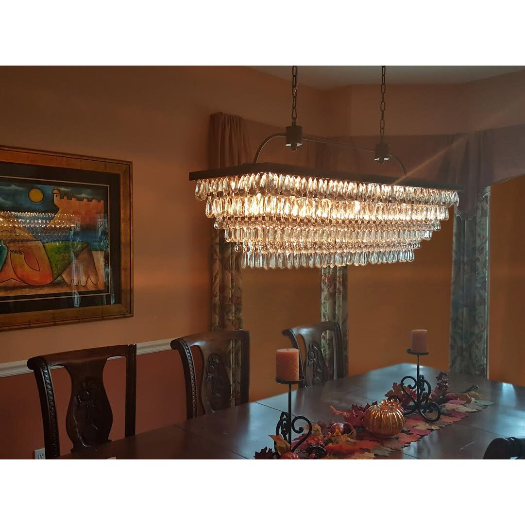 6 Light Crystal Chandelier: LightUpMyHome The Weston 6-Light Crystal Chandelier,Lighting