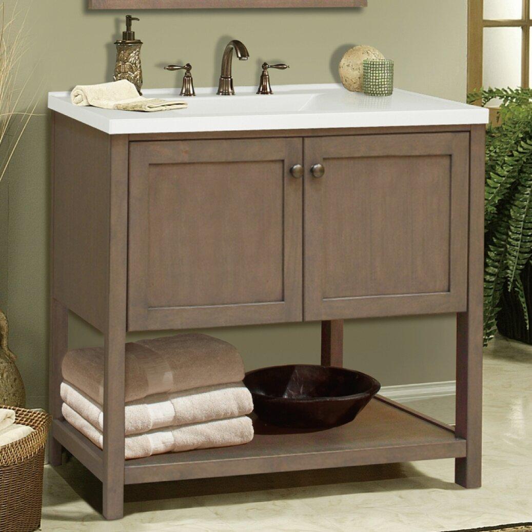 Bathroom Vanity Base Sunny Wood Aiden Bath 36 Bathroom Vanity Base Reviews Wayfair