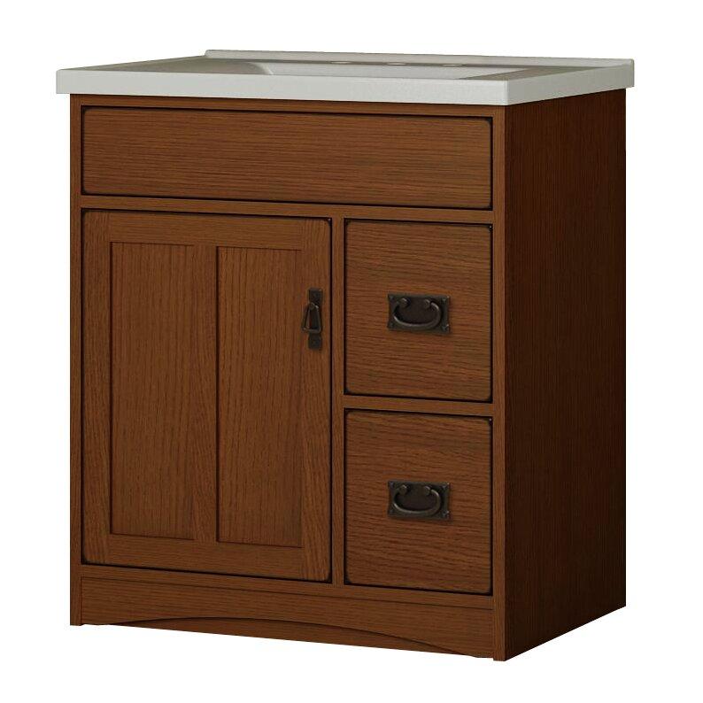 "sunny wood mission oak 30"" bathroom vanity base | wayfair"