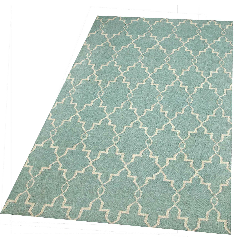 parwis handgewebter teppich piper in hellblau. Black Bedroom Furniture Sets. Home Design Ideas