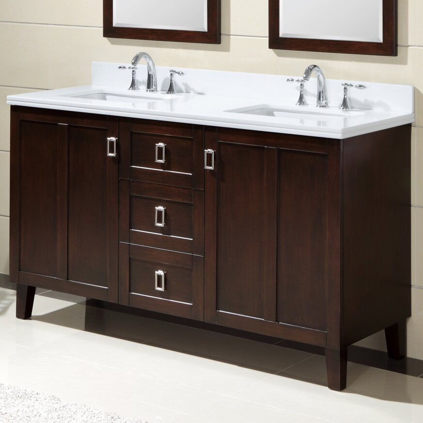 infurniture 60 double sink bathroom vanity set reviews wayfair
